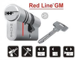 Κύλινδρος ασφαλείας MAUER RED LINE με κόψιμο για κορυφαία ασφάλεια