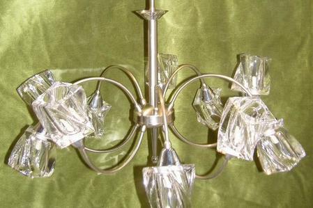 φωτιστικο εξαφωτο g9 κρυσταλλο fotistiko kristallo exafoto