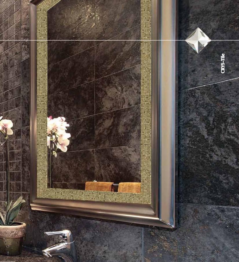 κρυσταλλο ασφουρ διακοσμητικο σε καθρεφτη μπανιου