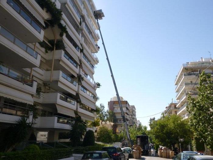 Μεταφορές Μετακομίσεις με Ανυψωτικό Μηχάνημα σε όλη την Ελλάδα Μεταφορική ΠΑΠΑΔΑΚΗ ΑΦΟΙ Αχαρνές Αττικής Μεταφορά Οικοσκευής, Μετακόμιση, Ανυψώσεις, Αμπαλάζ ειδικές τιμές για όμορους Δήμους Αχαρναί (Μενίδι) Καματερό, Άνω Λιόσια, Ζεφύρι, Θρακομακεδόνες, Μεταμόρφωση κτλ