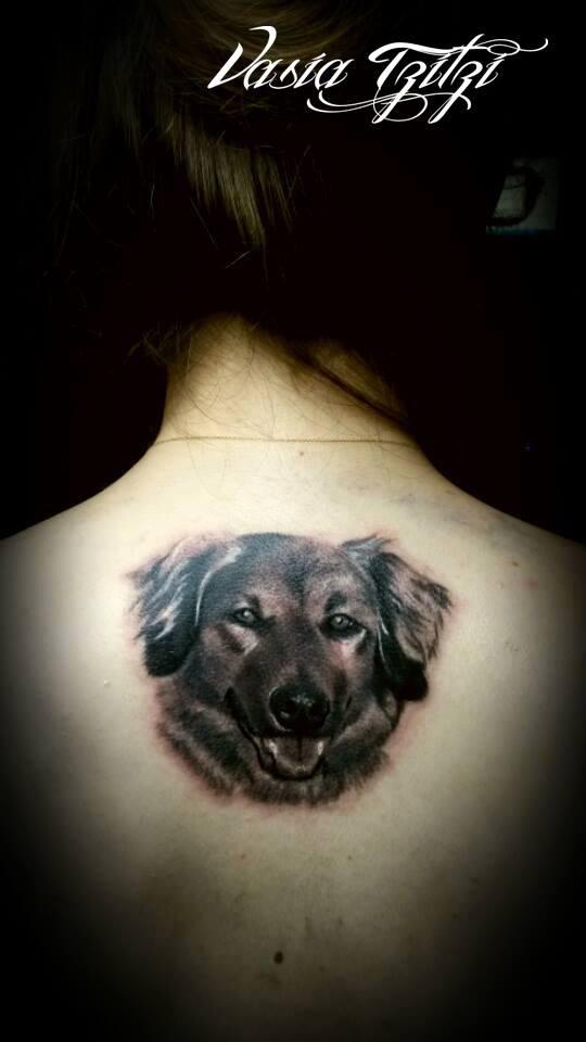 dog tattoo realistic