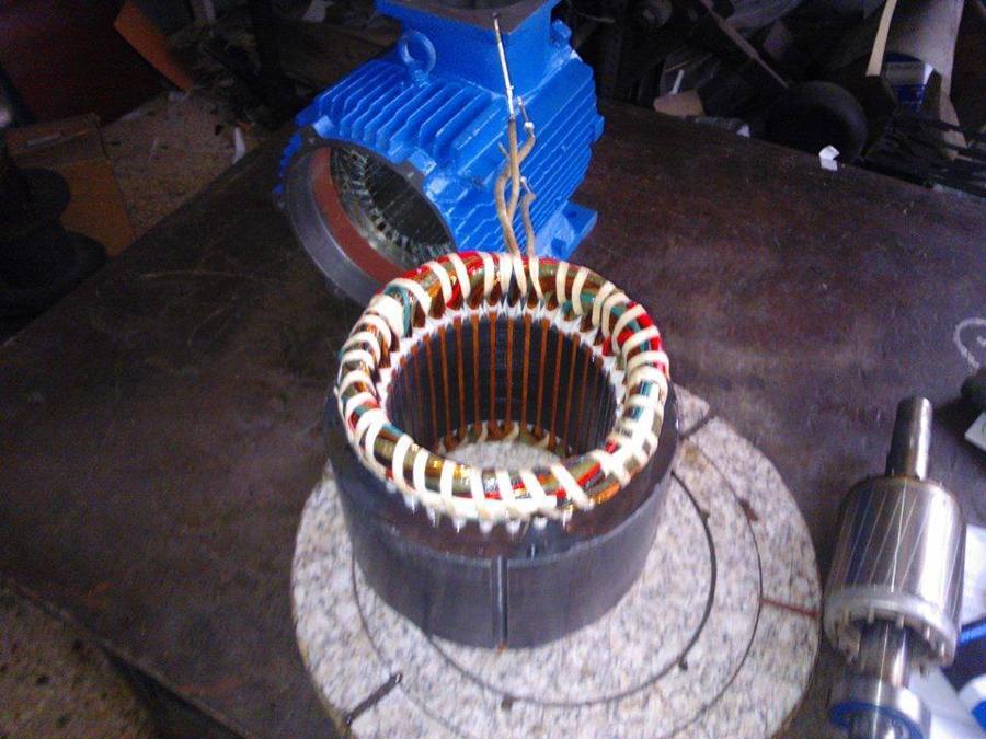 Περιελιξη Ηλεκτροκινητηρα τριφασικος(380 volt).Πυρηνας