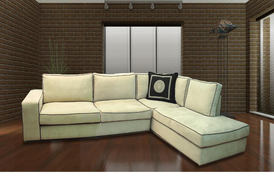 Γωνιακό καναπές λευκός