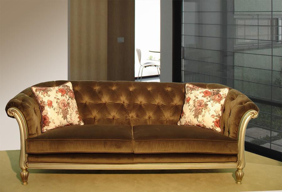 Τριθέσιος καναπές κλασικός