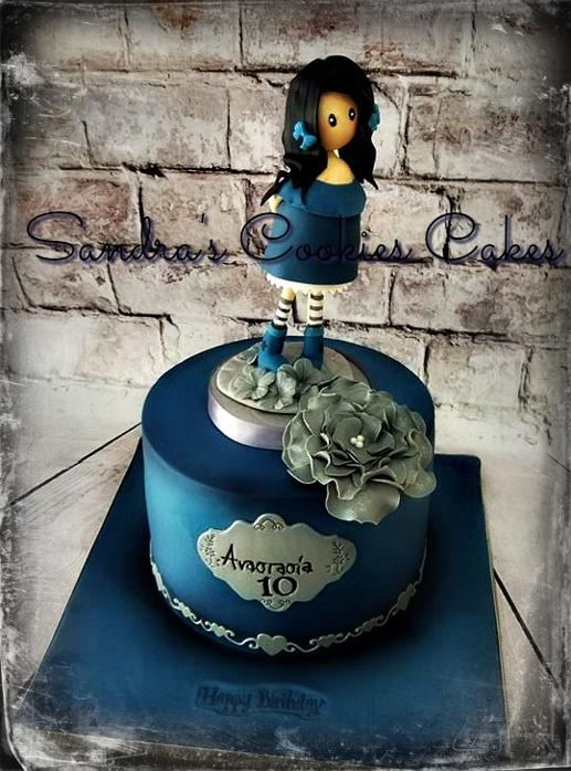 Santoro Gorjuss cake Τούρτα ζαχαρόπαστα