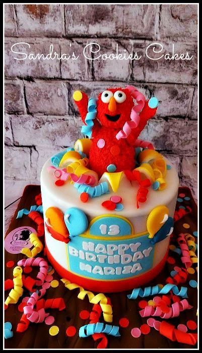 Elmo cake Τούρτα ζαχαρόπαστα