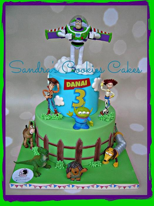Toy story cake Τούρτα ζαχαρόπαστα
