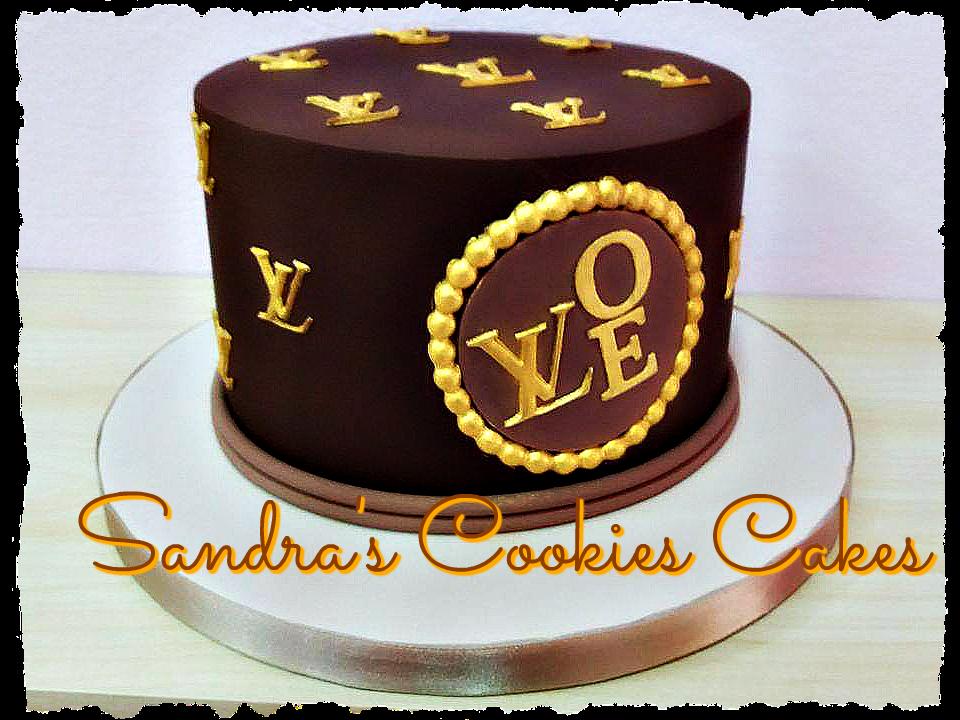 Louis Vuitton cake Τούρτα ζαχαρόπαστα