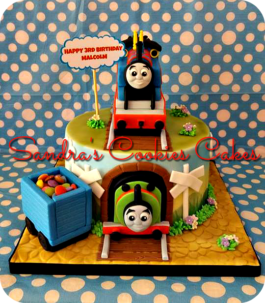 Thomas the train cake Τούρτα ζαχαρόπαστα