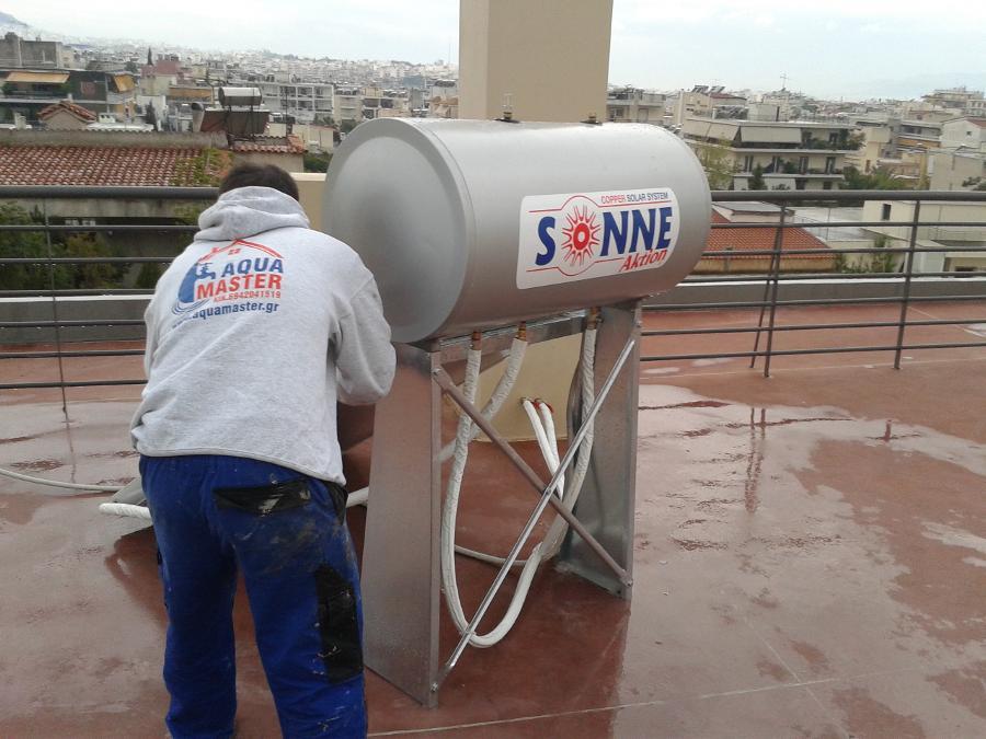 Εγκατάσταση ηλικακού θερμοσίφωνα Νέο Ηράκλειο Αττικής