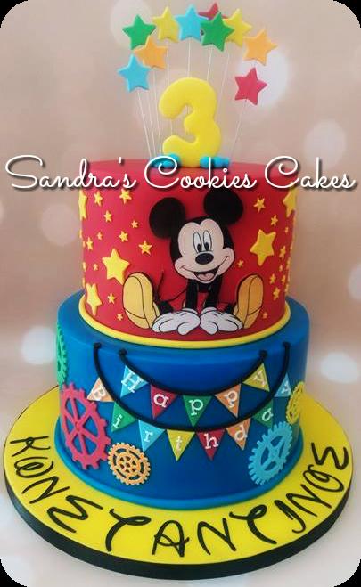 Mickey mouse cake Τούρτα  ζαχαρόπαστα