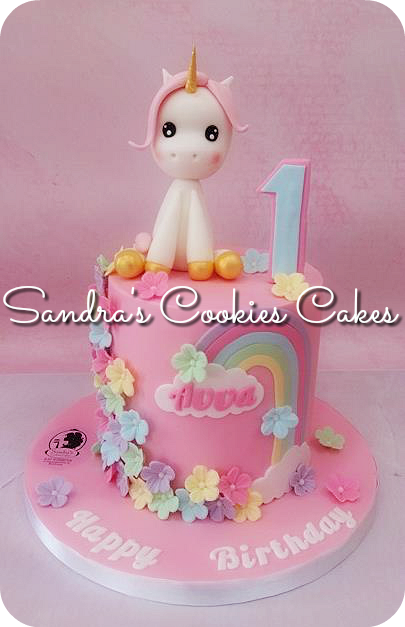 Unicorn cake Τούρτα ζαχαρόπαστα