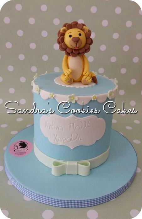 Little lion cake Τούρτα ζαχαρόπαστα