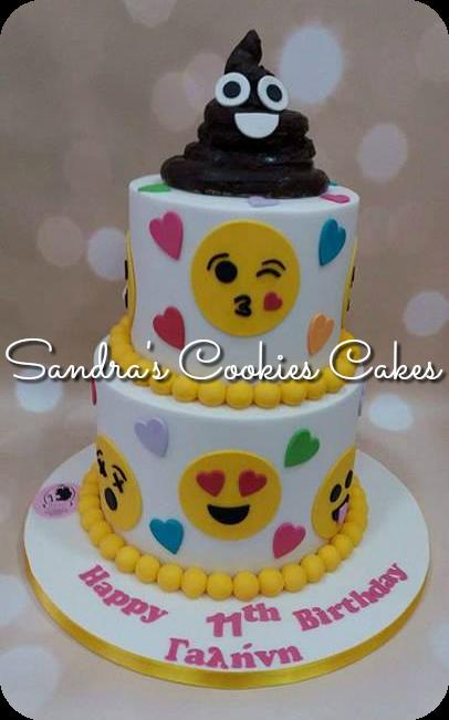 Emoji cake   Τούρτα ζαχαρόπαστα