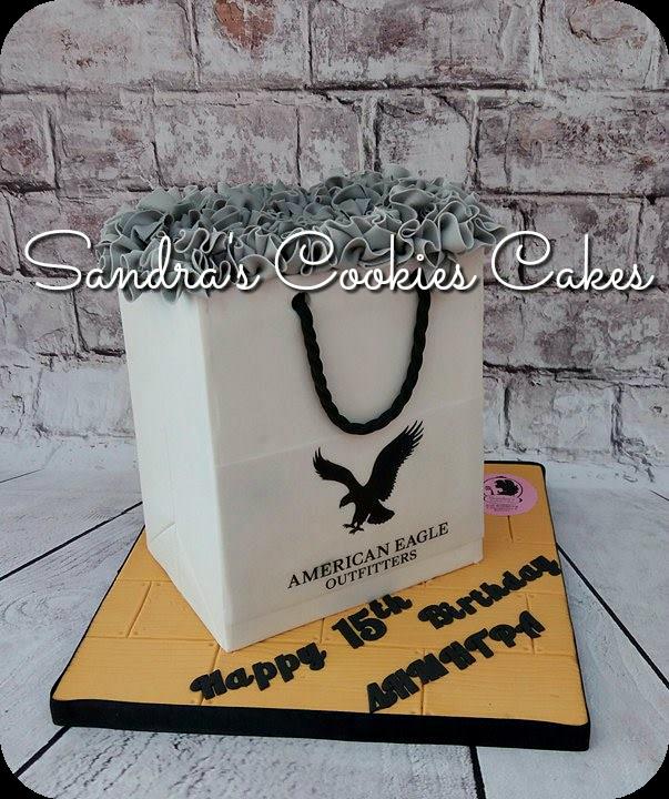 Shopping bag cake   Τούρτα ζαχαρόπαστα