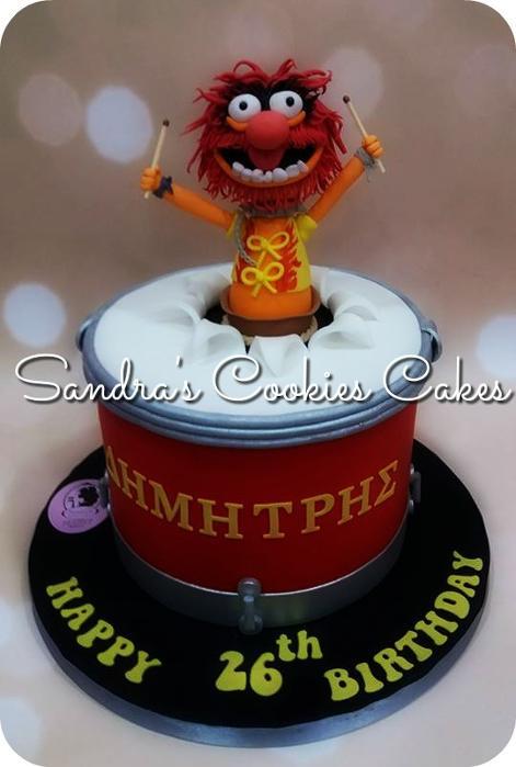 Animal muppet show cake   Τούρτα ζαχαρόπαστα
