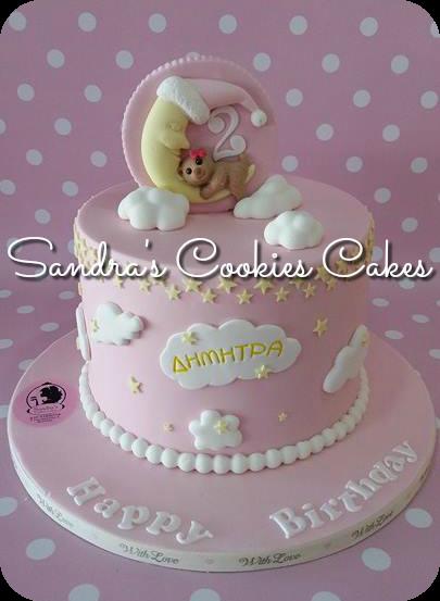 Little twinkle stars cake   Τούρτα ζαχαρόπαστα
