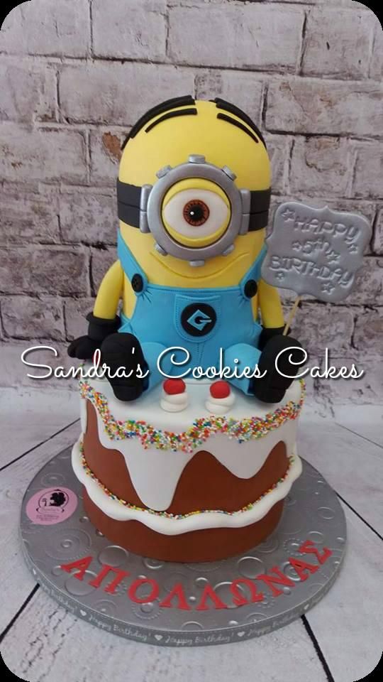 Minion cake   Τούρτα ζαχαρόπαστα