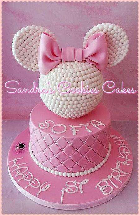 Minnie mouse cake   Τούρτα ζαχαρόπαστα