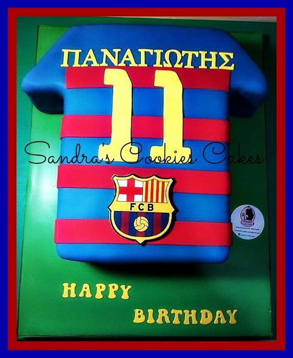 Barcelona cake   Τούρτα ζαχαρόπαστα