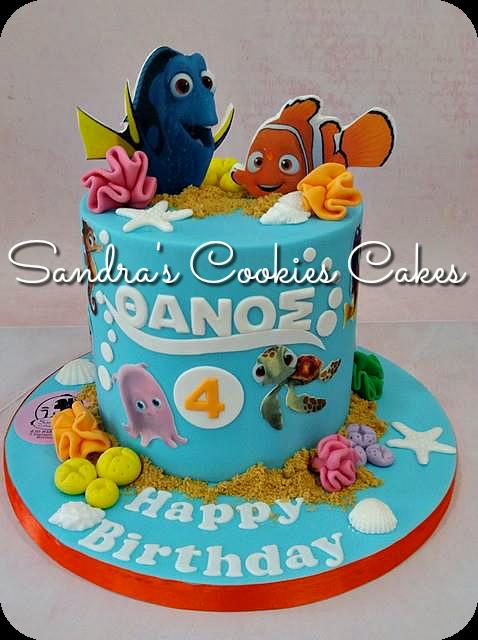 Nemo-Dory cake   Τούρτα ζαχαρόπαστα