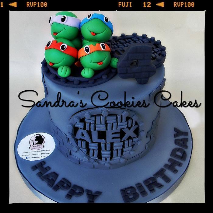 Ninja turtle cake   Τούρτα ζαχαρόπαστα