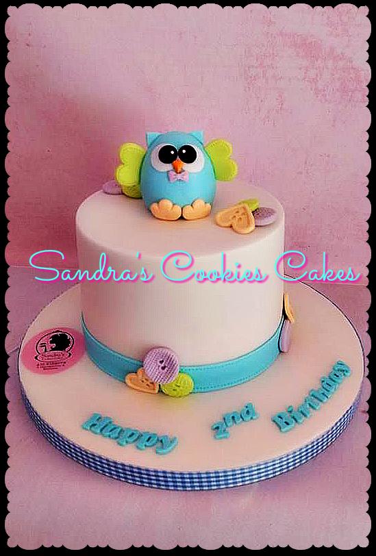 Owl cake   Τούρτα ζαχαρόπαστα