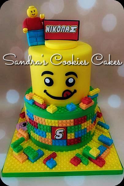 Lego cake   Τούρτα ζαχαρόπαστα