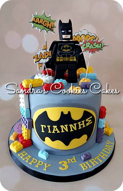 Lego Batman cake   Τούρτα ζαχαρόπαστα