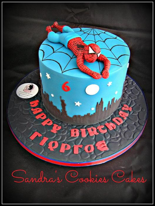 Spiderman cake   Τούρτα ζαχαρόπαστα