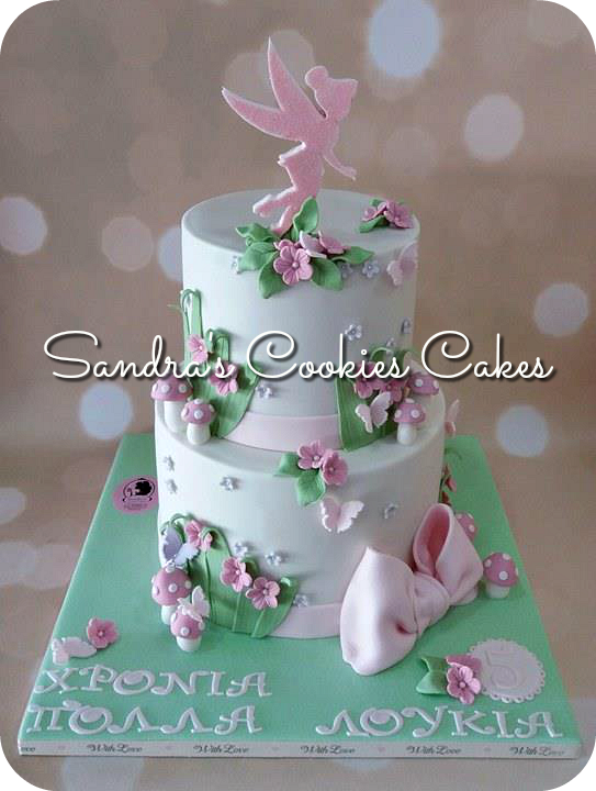 Tinkerbell cake   Τούρτα ζαχαρόπαστα