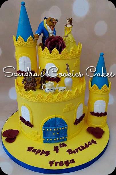 Beauty & the beast  cake Τούρτα ζαχαρόπαστα