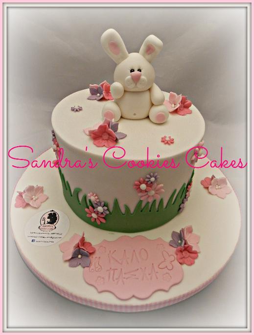 Bunny cake   Τούρτα ζαχαρόπαστα