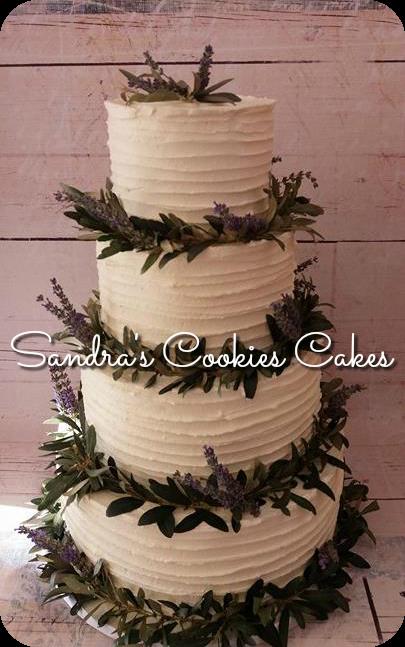 Olive & levander cake Τούρτα γάμου