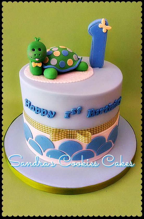 Little turtle cake  Τούρτα ζαχαρόπαστα