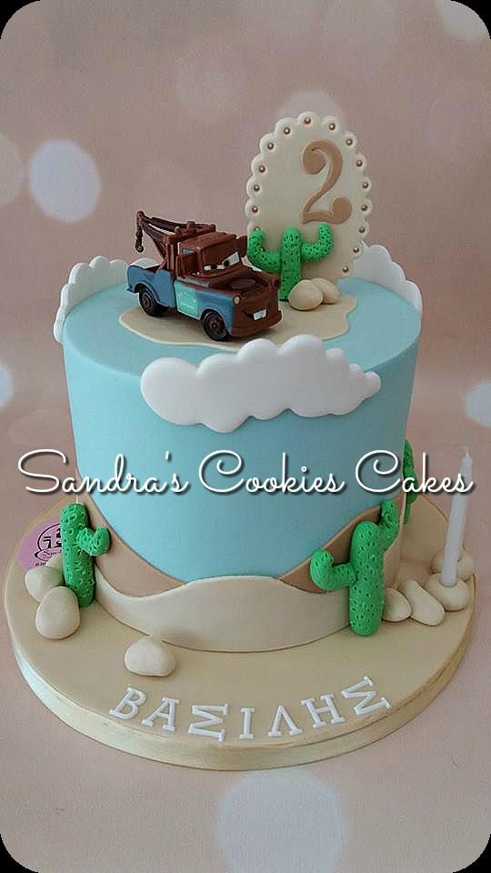 Mater - cars cake   Τούρτα ζαχαρόπαστα