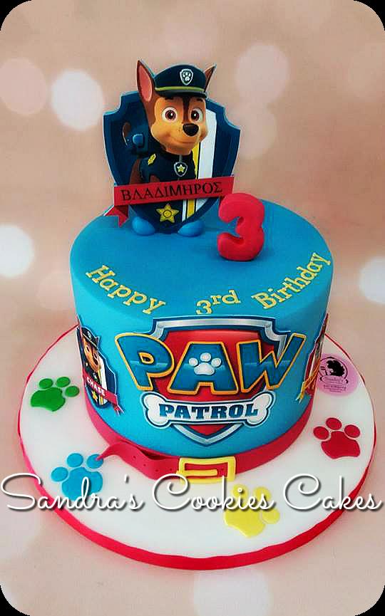 Paw patrol cake  Τούρτα ζαχαρόπαστα