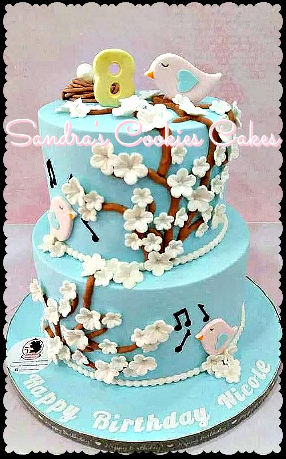 Love birds cake  Τούρτα ζαχαρόπαστα