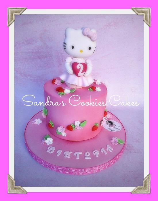 Hello Kitty cake  Τούρτα ζαχαρόπαστα