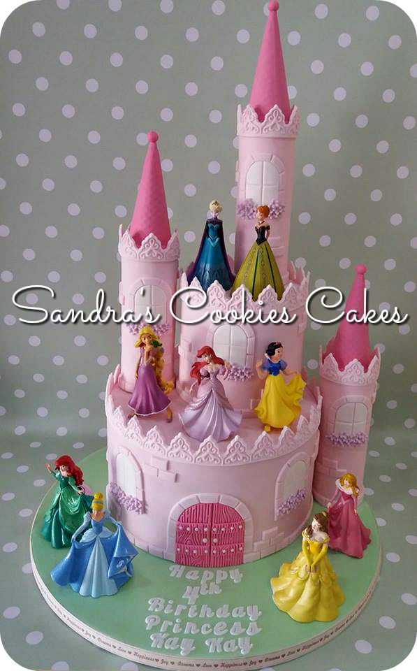 Princess castle cake  Τούρτα ζαχαρόπαστα