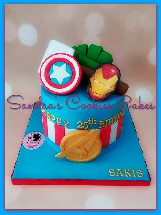 Super heroes cake Τούρτα ζαχαρόπαστα