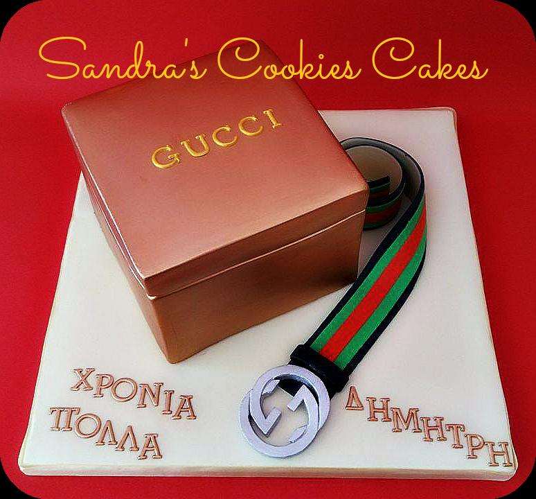 Gucci box cake  Τούρτα ζαχαρόπαστα