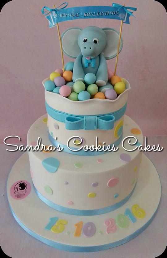 Elephant  cake  Τούρτα ζαχαρόπαστα