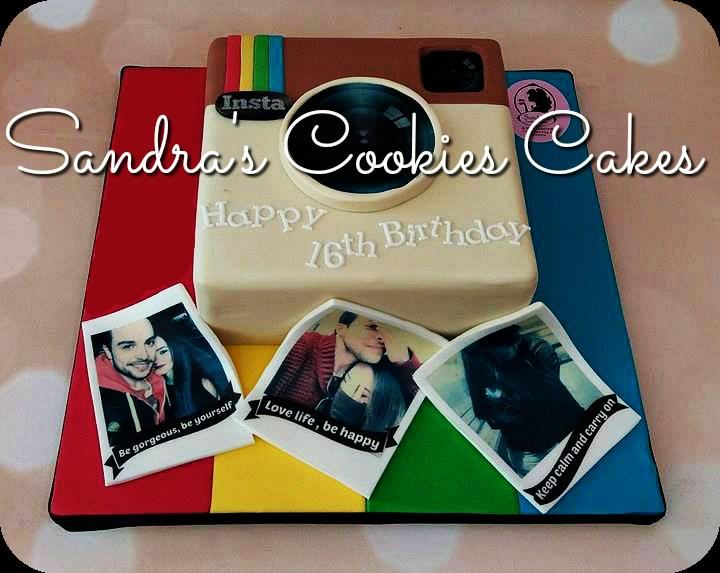 Instagram cake  Τούρτα ζαχαρόπαστα