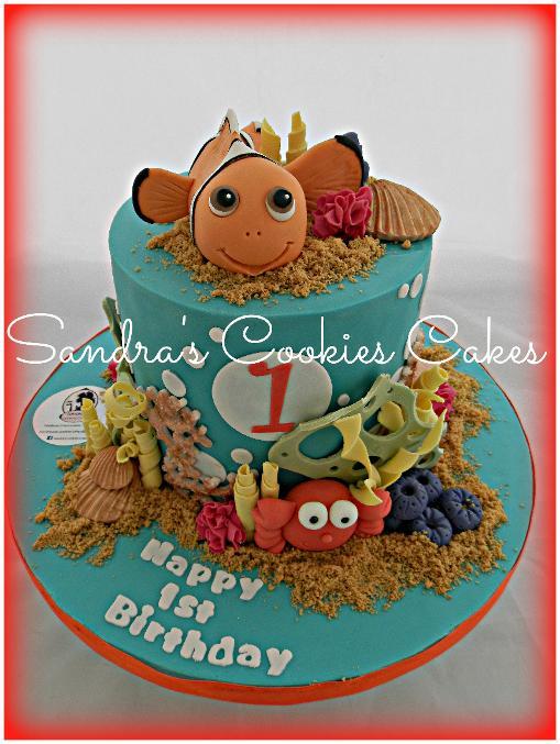 Nemo cake  Τούρτα ζαχαρόπαστα