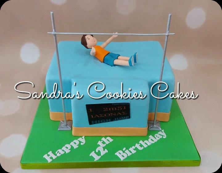 Highjump cake  Τούρτα ζαχαρόπαστα