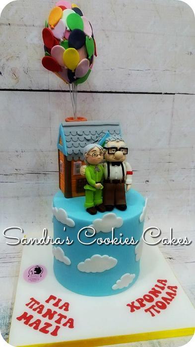 Up cake  Τούρτα ζαχαρόπαστα