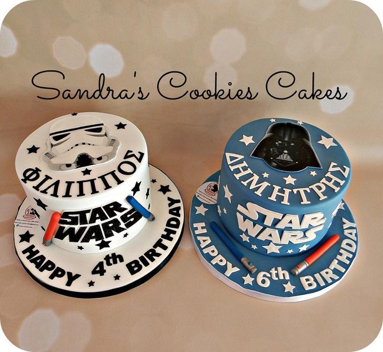 Star wars cakes Τούρτα ζαχαρόπαστα