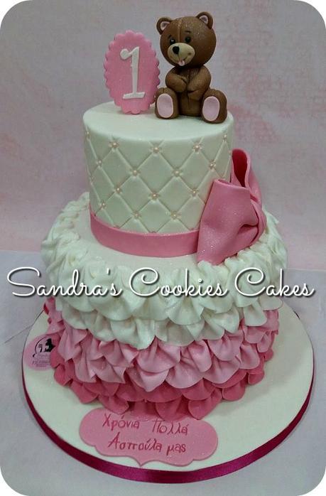 Teddy bear cake  Τούρτα ζαχαρόπαστα