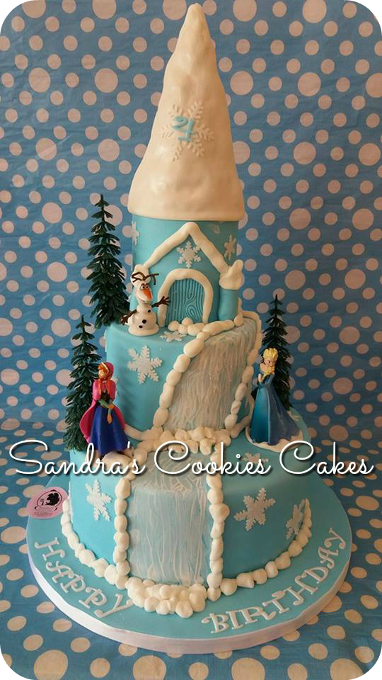 Frozen cake  Τούρτα ζαχαρόπαστα